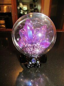 Bath & Body Works Purple Crystal Ball~Wallflower Plug-In~Light Up~Halloween 2021