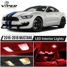 2015-2018 Ford Mustang Red Interior LED Lights Package Kit