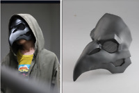 Overwatch OW Gabriel Reyes Reaper Skin Nevermore Ravens Cosplay Mask Adult Prop