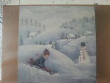 NORMA HARRINGTON 1985 SLEIGH RIDE PRIMITIVE COUNTRY VILLAGE PAINTING PATTERN 507