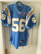 SAN DIEGO CHARGERS NFL 56 MERRIMAN Jersey Blue Reebok Size 48,50 Anniversary Bad