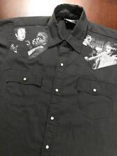 Universal Frankenstein Monster Felon Snap Short Sleeve Shirt Made USA Sz 2XL