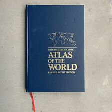 National Geographic ATLAS OF THE WORLD Revised Sixth (6th) Edition Hardcover