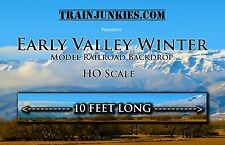 "TrainJunkies HO Scale ""Early Valley Winter"" Model Railroad Backdrop 18""x120"""