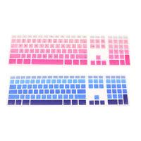 Pink+Blue MagiDeal 2pcs Keyboard Skin Cover for iMac USB Keyboard A1243