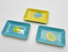 Set of 3 Crate & Barrel Laurie Gates Rectangular Plate, Hors d'oeuvres Cocktail