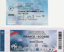 Billets Foot FRANCE - HONGRIE et FRANCE - ECOSSE