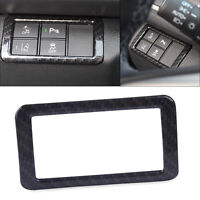 Carbon Fiber Texture Dashboard Head Light Switch Cover Trim Fit For Honda Civic