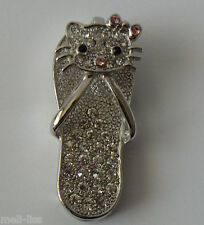 New 8 GB Jewelry Hello Kitty Rhinestone Pendant Memory Stick USB  Flash Drive