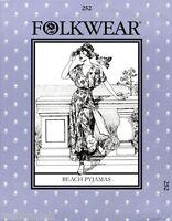 Folkwear Retro 20s-30s Beach Pyjamas Jumpsuit w/Palazzo Pants Sewing Pattern 252