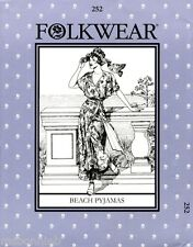 Folkwear Retro 20s-30s Beach Pyjamas Jumpsuit w/Palazzo Pants Sewing Pattern 252