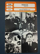Alfred Hitchcock Rebecca Joan Fontaine Laurence Olivier French Trade Card