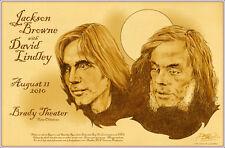 Jackson Browne David Lindley Original Tulsa Brady Theater Signed Concert Poster