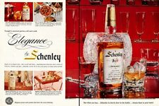 1957 Schenley Whisky Vintage Bottle PRINT AD