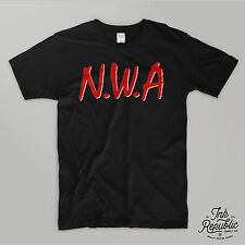 NWA T-SHIRT logo Rap Hip Hop 90's N.W.A Compton Eazy-E Dr. Dre 90's