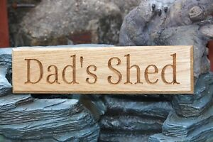Solid Oak House Door Gate Wooden Sign CNC Carved - Personalised