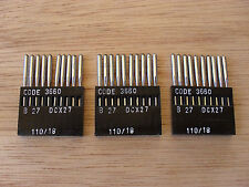 NEEDLES FOR INDUSTRIAL OVER LOCK MACHINES SIZE 110/18 SHARP POINT X 30