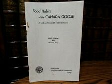 Food Habits of the Canada Goose at Lake Mattamuskeet, North Carolina, Yelverton