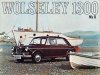Wolseley 1300 Mk II Saloon 1968-70 UK Market Sales Brochure