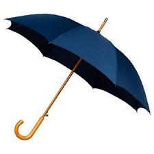 El gancho de madera Aludra Automático Resistente Al Viento Caminar Paraguas Para Eventos Azul Marino