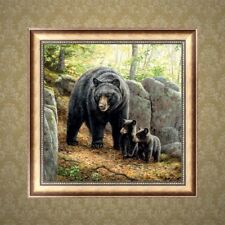 Black Bear DIY 5D Diamond Embroidery Painting Rhinestone Cross Stitch Decoration