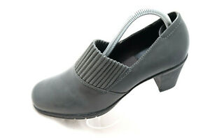 Clarks Bendables Women Size 8.5W Thoughtful Leather Slip On Mule Booties 80818