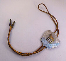 Boyd-Reno, Nevada Sterling Horse Large Bolo W/ Leather Tie