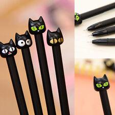 4PCS  Korean Black Cat Gel Ink Pen 0.5mm Stationery School Supplies Office