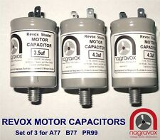 NEW Motor Capacitors Set for Revox A77 Revox B77 Revox PR99