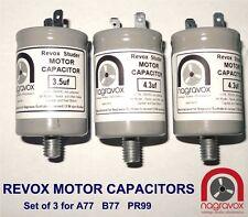 NEW Motor Capacitors Set for Revox A77 Revox B77 Revox PR99