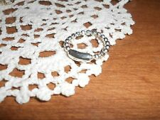 Silpada R3310 Charlotte Stretch Sterling Silver Ring Italian Made Size 6-9