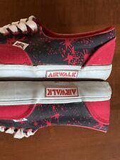 "Vintage 80s 90s Airwalk Shoes Size Mens 10 ""blood Shot"" Colorway"