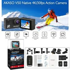 AKASO V50 4K HD 20MP WiFi Action DVR Camera Camcorder +2 Extra Batteries+Charger