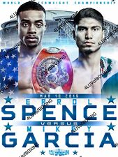 Errol Spence Jr vs Mikey Garcia 4LUVofBOXING Boxing Poster White 11x17 New