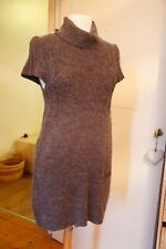 Petite robe taupe en alpaga et laine T38/40