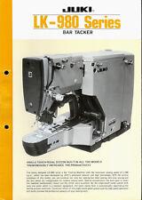 Juki LK-980 Series Industrial Sewing Machine Original Factory Dealer Brochure