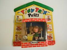 RARE Vintage 1966 Uneeda Tiny Trix Poses With Tiny Action Toys# 1510 KIDDLE GIRL