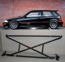 X-Bar+c-Pillar bar+Lower Bar Rear Crossbar 88-91 Honda Civic 3dr Hatchback EF
