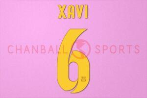 Xavi #6 2012-2015 Barcelona Home/3rd Awaykit Nameset Printing