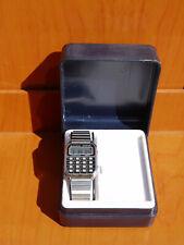 Orologio vintage LCD calcolatrice SAXON con scatola funzionante calculator watch