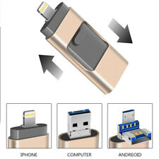 512GB Lightning USB 2.0 Flash Drive 3in1 OTG Memory Stick USB Disk for iPhone PC
