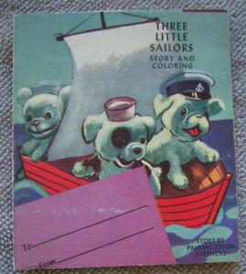 THREE LITTLE SAILORS Pauline Tyson Stephens Dog Sailors