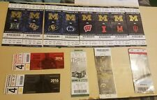 2016 Michigan Wolverines Football Ticket Set