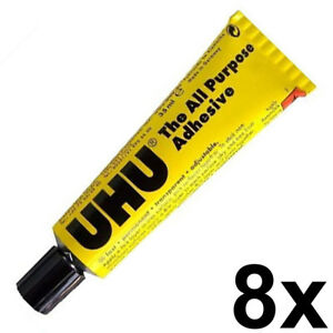 8 x UHU All Purpose Universal Glue 35G/ML