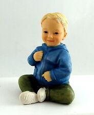 Dolls House Miniature 1:12 People Resin Modern Baby Figure Sitting Little Boy
