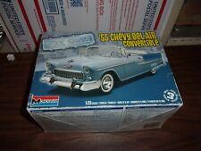 2010 Monogram 1955 Chevy Bel Air Convertible Model Kit 1/25 Scale Car Show Nib