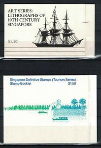 c1993 Singapore Booklets SB5, 6, 7 & 64 All Mint unused condition (RW807)