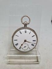 Antique solid silver fusee H. Bond pocket watch 1867 working ref1739