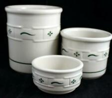 Longaberger WOVEN TRADITIONS HERITAGE GREEN 3 Piece Assortment GREAT CONDITION
