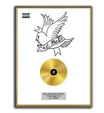 Lil Peep Poster, Cry Baby GOLD/PLATINIUM CD, gerahmtes Poster HipHop Rap WallArt